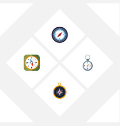 flat icon compass set of direction orientation vector image vector image