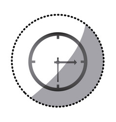 Grayscale wall clock icon vector