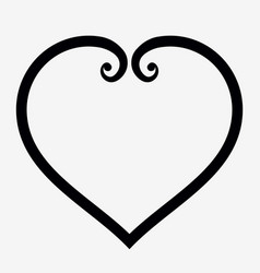 Heart outline icon elegant minimal design style vector