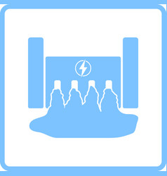 hydro power station icon vector image vector image