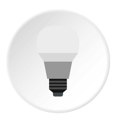 Lamp icon flat style vector