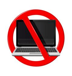 No laptop area vector
