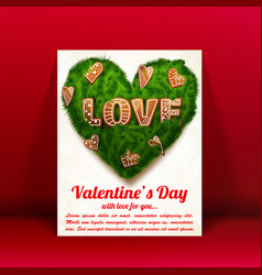 romantic lovely greeting card vector image vector image
