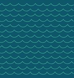 seamless cartoon sea pattern vector image vector image