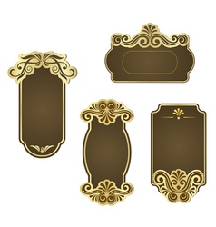 set of retro frames for wedding templates vector image vector image