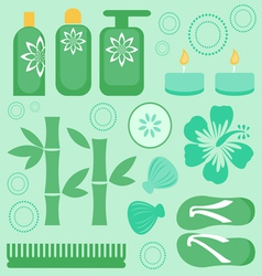 Spa collection vector image vector image