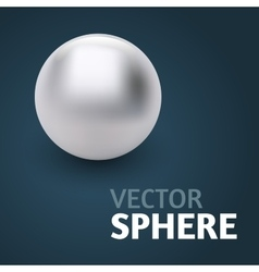 sphere abstract on black background vector image vector image