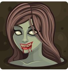 Symbol 10 girl zombie vector