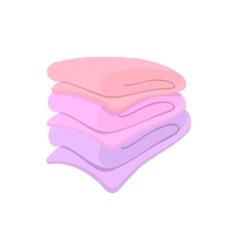 Towel stack cartoon icon vector