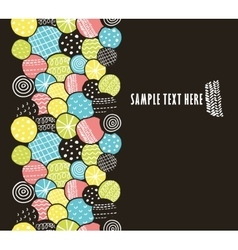 Vertical seamless pattern with decorative circles vector image