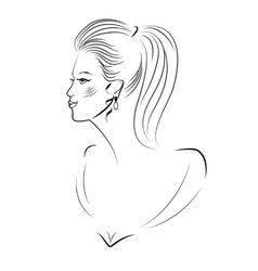 Young women portrait vector image