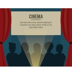 Theater movie film icon graphic vector