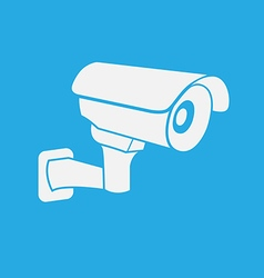 Cctv security camera icon vector