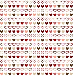 Seamless pattern design with red heart color vector