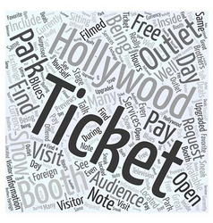 Universal studios tours hollywood ticket outlet vector