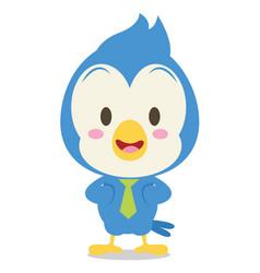 blue jay character vector image