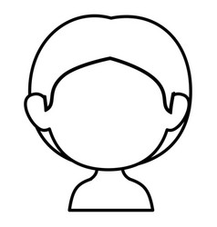 Little boy shirtless avatar character vector
