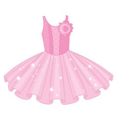soft pink ballet tutu dress vector image