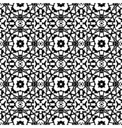 Art deco pattern in black and white vector