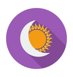 Solar eclipse single icon vector