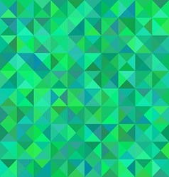 Abstract triangular green pattern or background vector