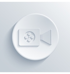 Modern light circle icon with shadow vector