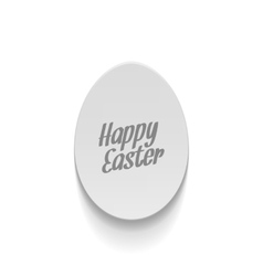 Realistic easter paper egg banner with text vector