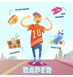 Raper character pack for man vector