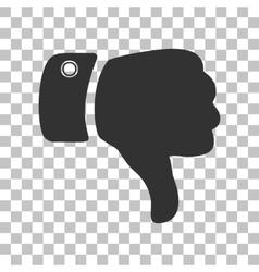 Hand sign Dark gray icon on vector image