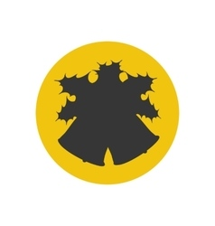 Bell silhouette icon vector
