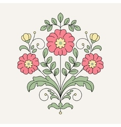 Vintage flower for design vector