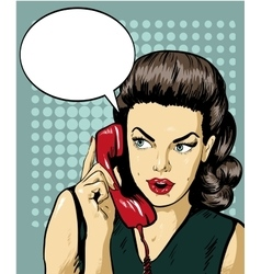 Woman talking by phone with speech bubble vector