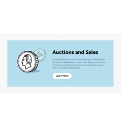 Auction  old ancient coin vector