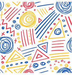 abstract marker colorful lines seamless pattern vector image