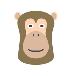 baboon face vector image vector image