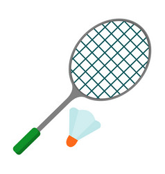 badminton racket icon vector image vector image