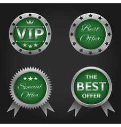 Best offer labels vector image vector image