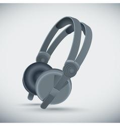 big grey headphones vector image vector image