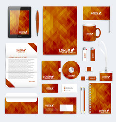 Brown set of corporate identity template vector
