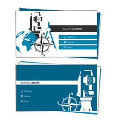 Business card concept of geodesy and cartography vector
