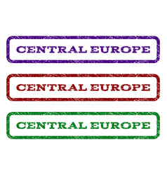 central europe watermark stamp vector image vector image