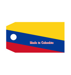 Colombia flag on price tag with vector