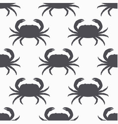 crab silhouette seamless pattern vector image