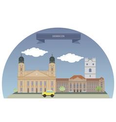 Debrecen vector image