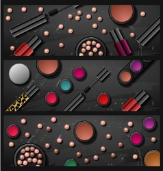 decorative cosmetics make up accessories beauty st vector image