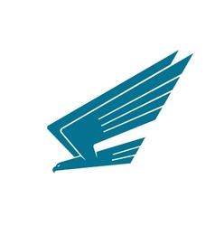 Eagle in flight vector