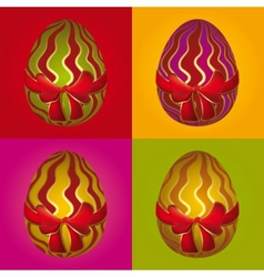 easter egg selection vector image