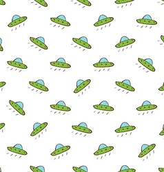 Flying saucer seamless pattern vector