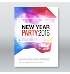 Happy New Year invitation Card brochure template vector image vector image