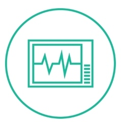 Heart monitor line icon vector image vector image
